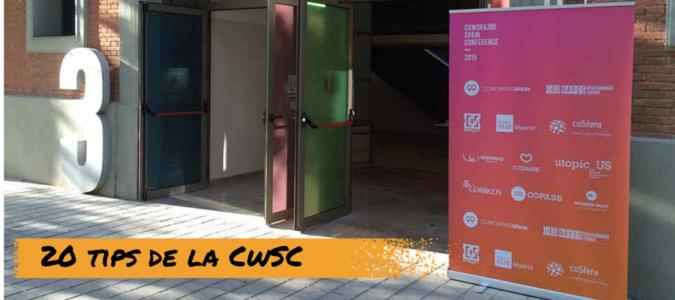 20 tips de la Coworking Spain Conference 2015