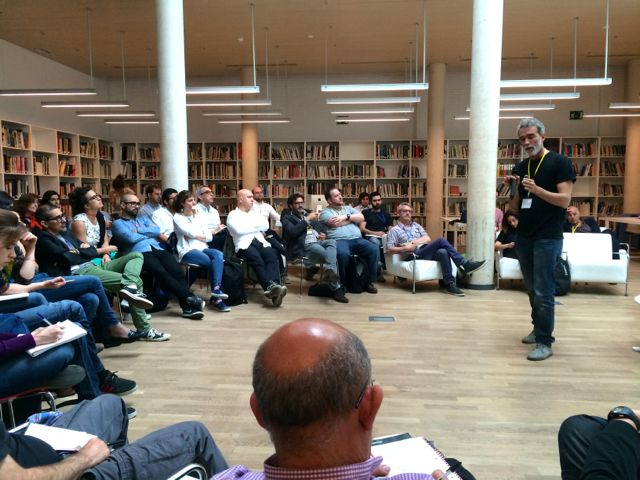 Rafa de Ramón de Utopicus en la Coworking Spain Conference - Foto de Diego Tomás