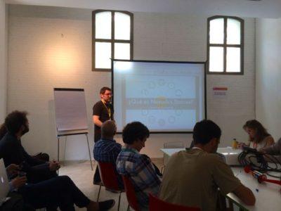 Carlos Almansa de Nexudus en la Coworking Spain Conference - Foto de Diego Tomás