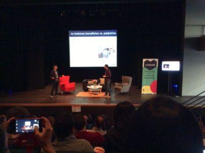 Javi Creus y Albert Cañigueral en la Coworking Spain Conference - Foto de Diego Tomás