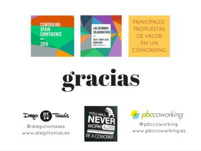 Gracias - Propuestas de valor espacios coworking Diego Tomás